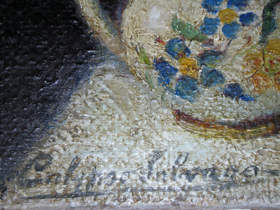 Art Restoration Signature Before