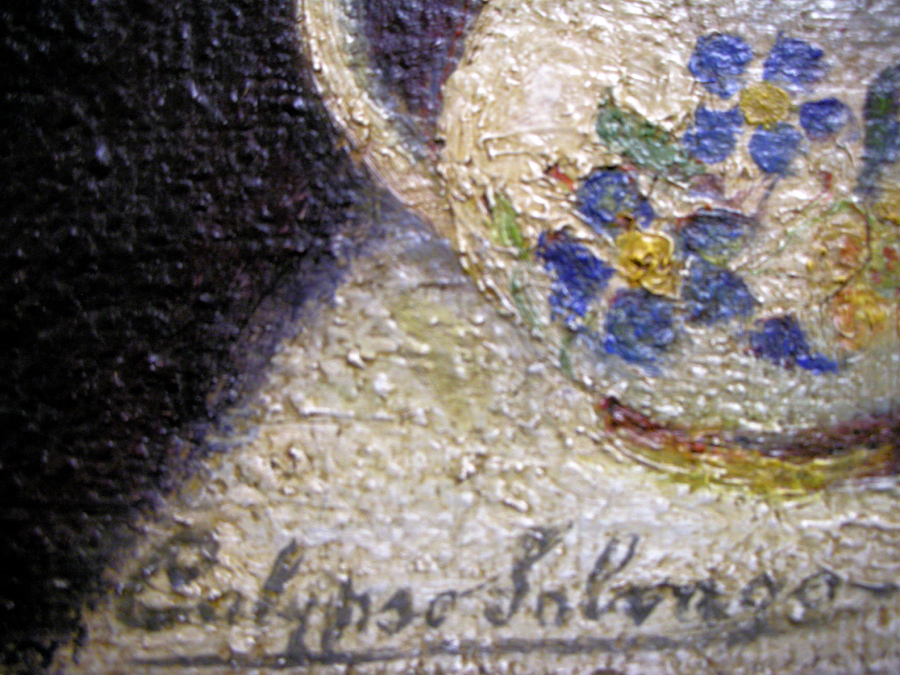 Art Restoration Signature After Cleaning