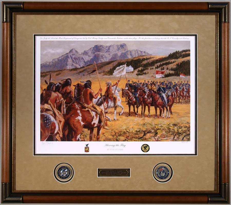 Completed Military Art Projects Framed at Cindy\'s Custom Framing ...