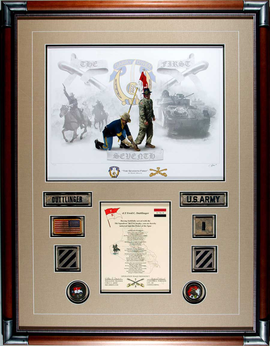 Completed military art projects framed at cindys custom framing completed military art jeuxipadfo Images