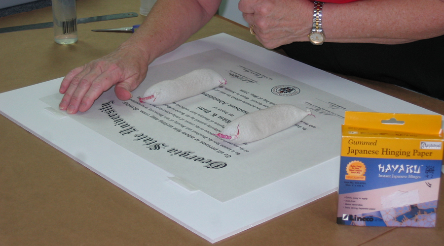 Conservation Framing of a Diploma