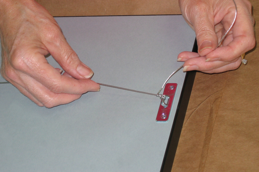 Sturdy Wire Hangers Applied To Back Of Picture Frame