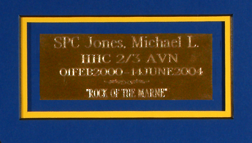 Engraved Plate in matt