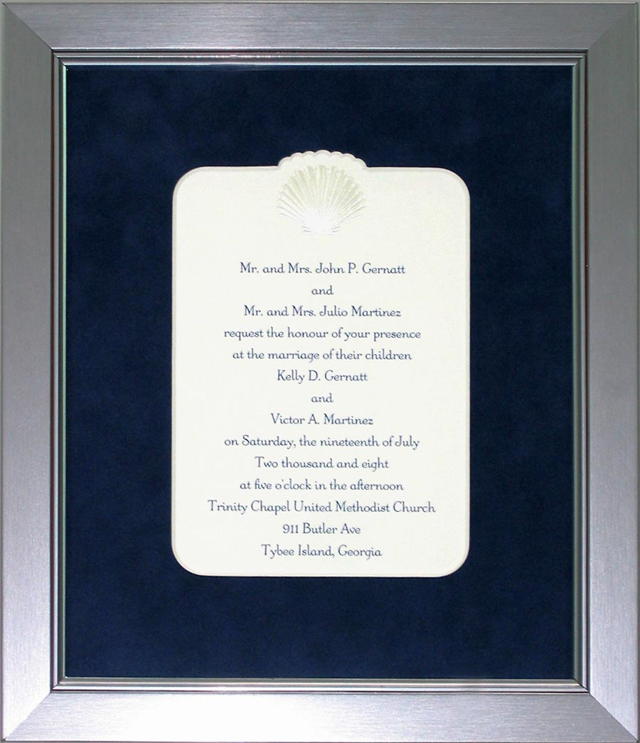 Invitations And Announcements Framed by Cindy\'s Custom Framing ...