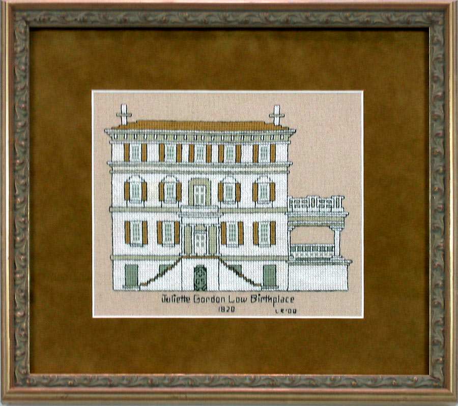 Examples Of Framed Needle Point Work Or Needle Art And