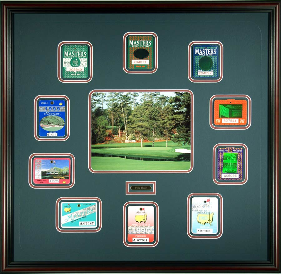 Golf Shadow Box With Passes And Photograph
