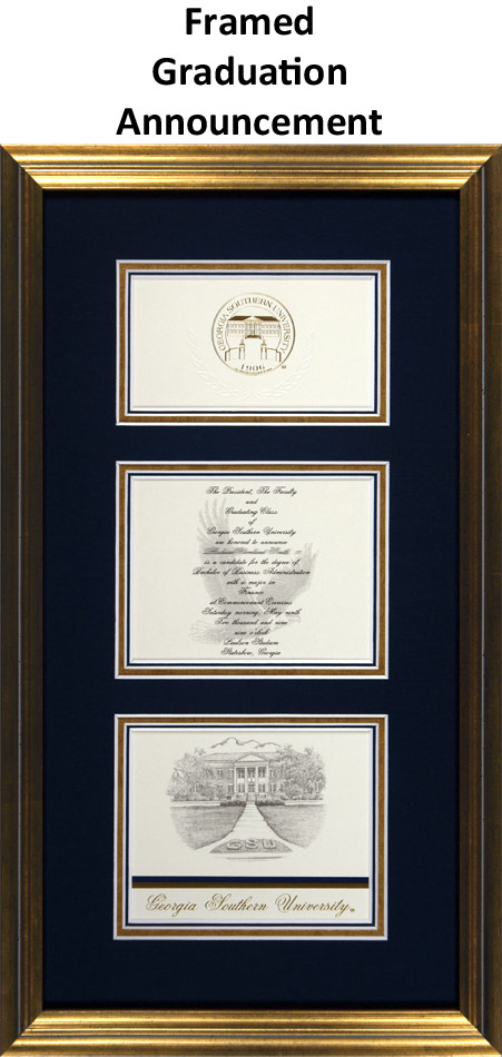 Custom Framed College Graduation Announcement Example