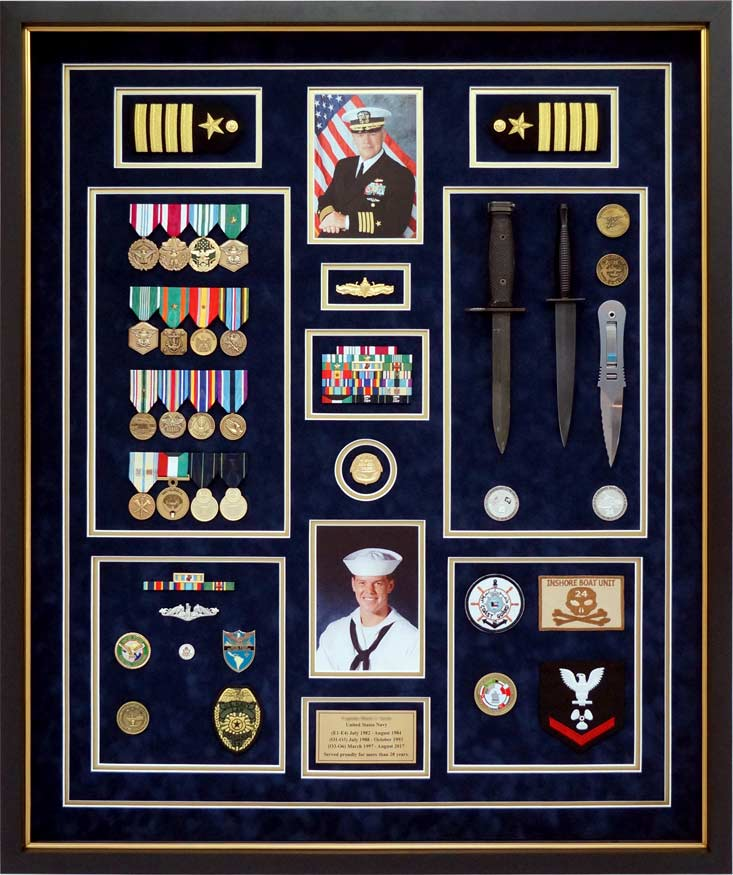 Conservation Framing Navy Shadow Box Example