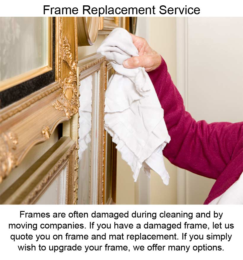 Frame Replacement Services - Replacing Frames That fall From Cleaning
