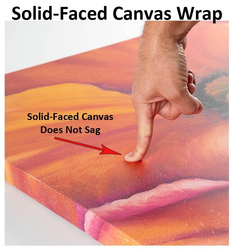 Example of Solid Faced Canvas Wrap That Will Not Sag