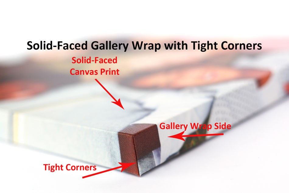 Tight Corners Demonstrated On A Canvas Gallery Wrap With Mirror Edge