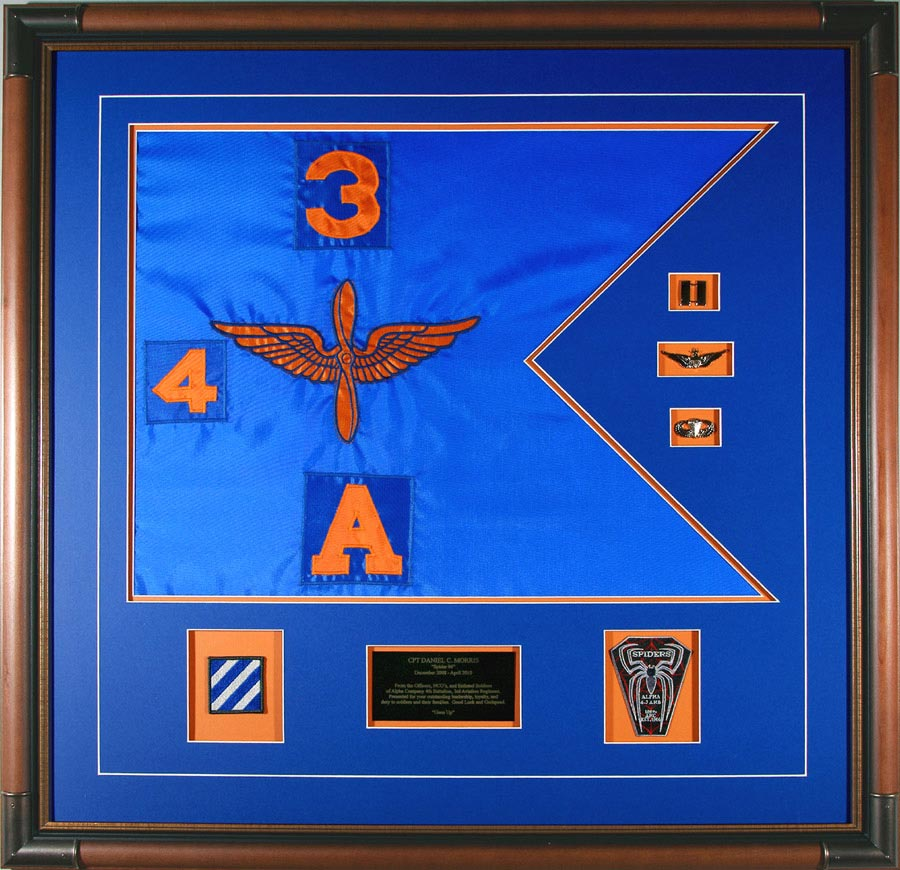 Aviation Guidon With Patches