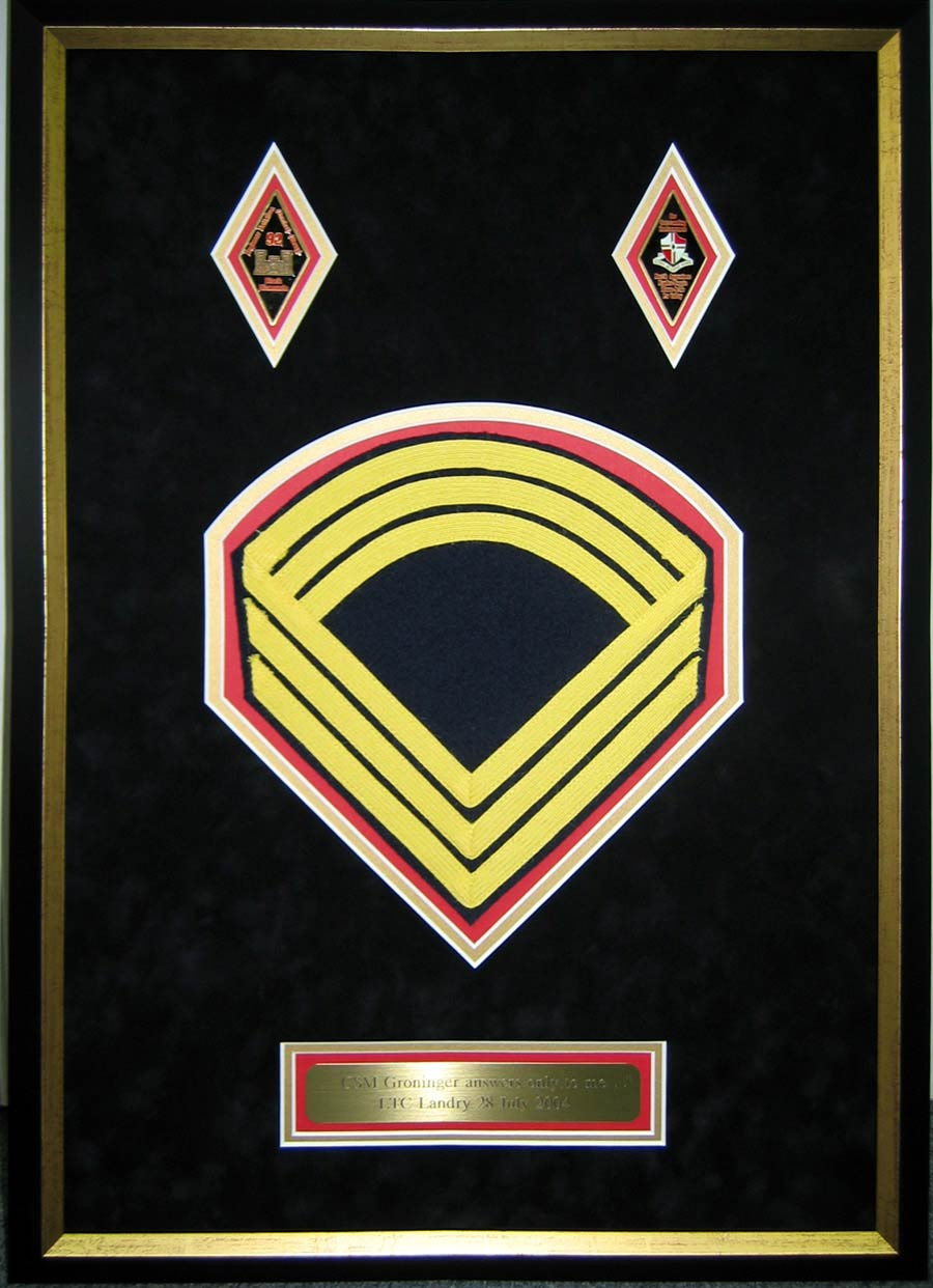 Framed Chevron Shadowbox