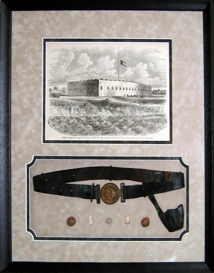 Civil War Artifacts Shadow box
